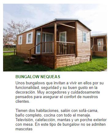 Bungalow camping Navarra